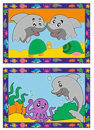 Malen nach Zahlen Bild Lustige Delfine - 28147  von Ravensburger