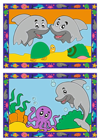 Lustige Delfine