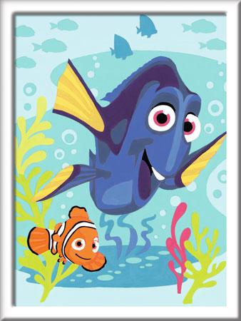 Malen nach Zahlen Bild Findet Dorie - Dorie und Nemo - 28323 von Ravensburger