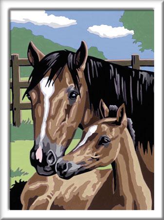 Malen nach Zahlen Bild Pferdeliebe - 28326 von Ravensburger