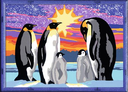 Malen nach Zahlen Bild Pinguinfamilie - 28344 von Ravensburger