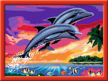 Malen nach Zahlen Bild Welt der Delfine - 28389 von Ravensburger