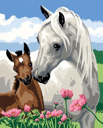 Stolze Pferdemutter