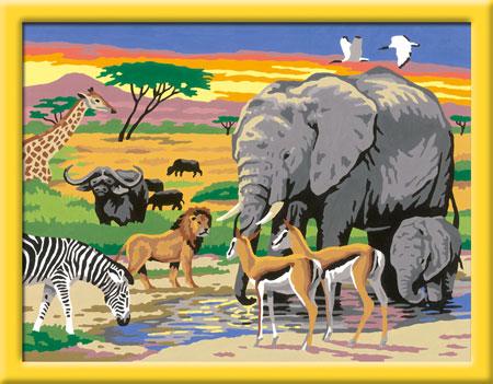 Malen nach Zahlen Bild Tiere in Afrika - 28403 von Ravensburger