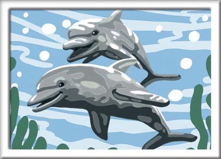 Malen nach Zahlen Bild Freundliche Delfine - 28468  von Ravensburger