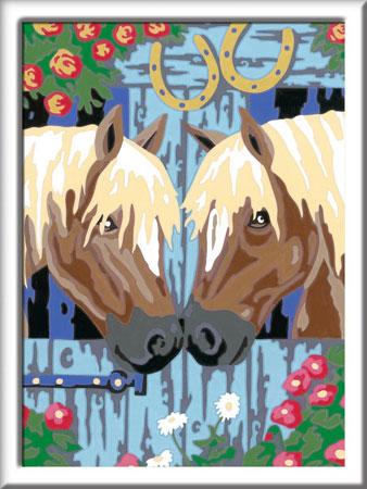 Malen nach Zahlen Bild Treue Pferde - 28478  von Ravensburger
