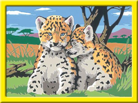 Malen nach Zahlen Bild Kleine Leoparden - 28486 von Ravensburger