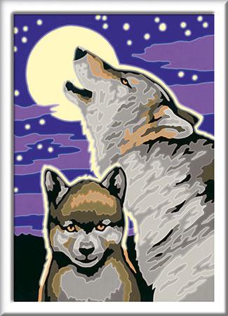 Malen nach Zahlen Bild Mystische Wölfe - 28513 von Ravensburger