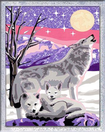 Malen nach Zahlen Bild Wolfsfamilie - 28557 von Ravensburger