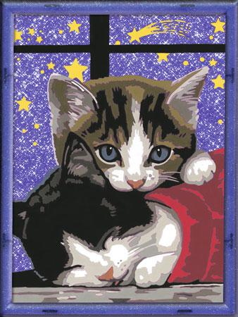 Kuschelndes Kätzchen
