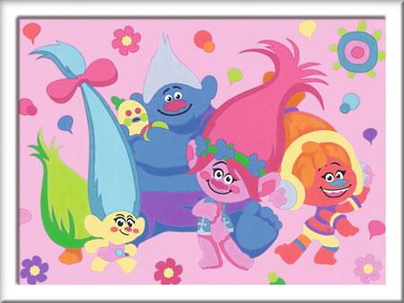 Malen nach Zahlen Bild Trolls - Charaktere - 28567 von Ravensburger