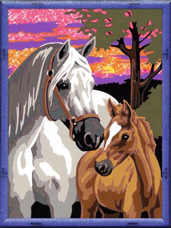 Malen nach Zahlen Bild Pferde im Sonnenuntergang - 28568 von Ravensburger
