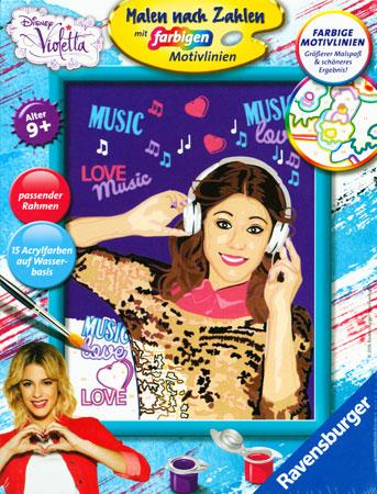 Malen nach Zahlen Bild Disney Violetta - Musik ist ihr Leben - 28577 von Ravensburger