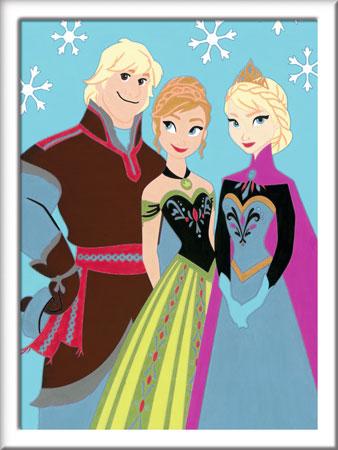 Malen nach Zahlen Bild Die Eiskönigin - Elsa, Anna und Kristoff - 28579 von Ravensburger
