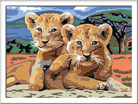 Malen nach Zahlen Bild Kleine Löwenbabys - 28639 von Ravensburger
