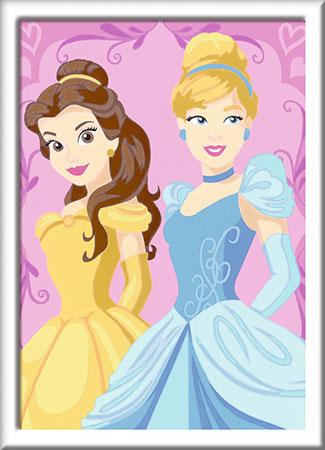 Malen nach Zahlen Bild Disney Prinzessinnen - Belle und Cinderella - 28654 von Ravensburger
