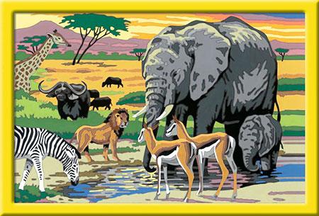 Malen nach Zahlen Bild Tiere in Afrika - 28766 von Ravensburger