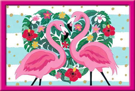 Malen nach Zahlen Bild Liebenswerte Flamingos - 28782 von Ravensburger