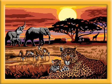 Malen nach Zahlen Bild Afrikanische Impressionen - 28819 von Ravensburger
