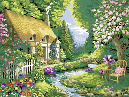 Malen nach Zahlen Bild Cottage Garden - 28843 von Ravensburger