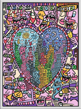 Malen nach Zahlen Bild James Rizzi - It´s Heart Not To Love My City - 28884 von Ravensburger