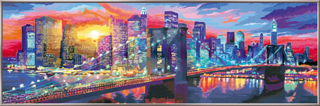 Leuchtendes New York (3 x 1 Meter)