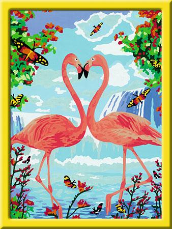 Malen nach Zahlen Bild Flamingo Love - 28901 von Ravensburger