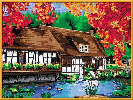 Malen nach Zahlen Bild Mühle am Blautopf - 28905 von Ravensburger