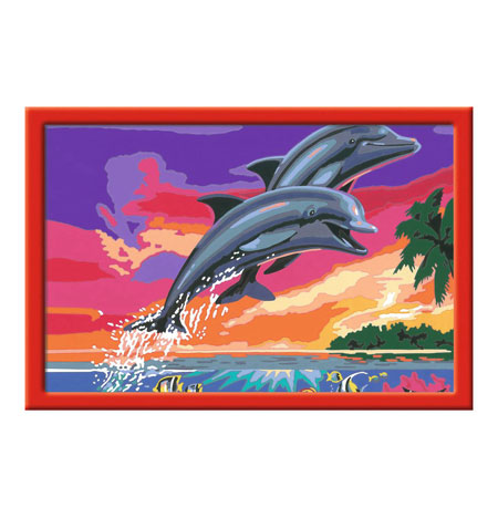 Malen nach Zahlen Bild Welt der Delfine  - 28907  von Ravensburger