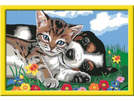 Malen nach Zahlen Bild Tierfreundschaft       - 28910  von Ravensburger