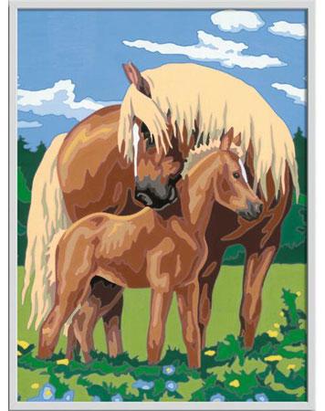 Malen nach Zahlen Bild Liebevolle Pferde - 28911  von Ravensburger