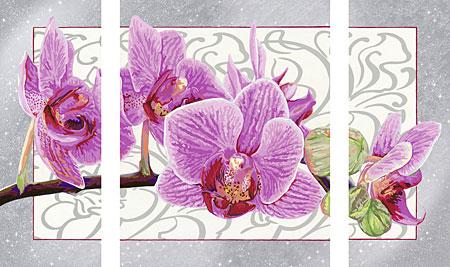 Malen nach Zahlen Bild Wilde Orchidee - Triptychon - 28969 von Ravensburger