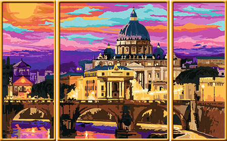 Malen nach Zahlen Bild Romantisches Rom - Triptychon - 28981 von Ravensburger