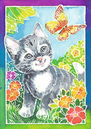 Malen nach Zahlen Bild Katze und Schmetterling    - 29110 von Ravensburger