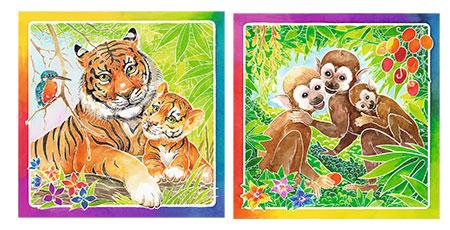 Süße Dschungeltiere