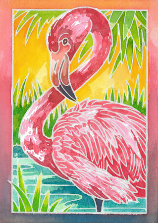 Malen nach Zahlen Bild Flamingo - 29121  von Ravensburger