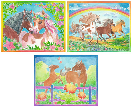 Malen nach Zahlen Bild Märchenhafte Ponys - 29124  von Ravensburger