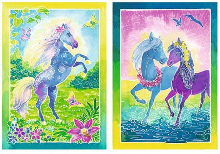 Leuchtende Ponys