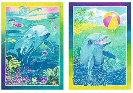 Fröhliche Delfine