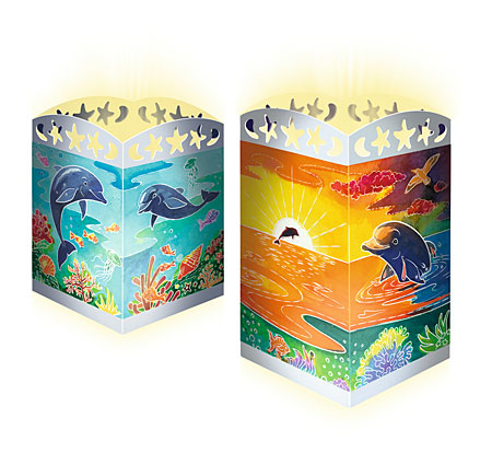Süße Delfine - Windlicht