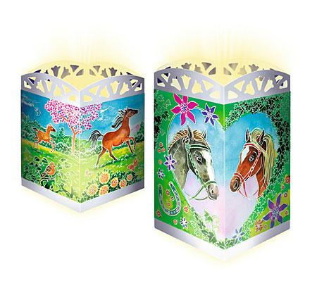 Zauberhafte Pferde - Windlicht