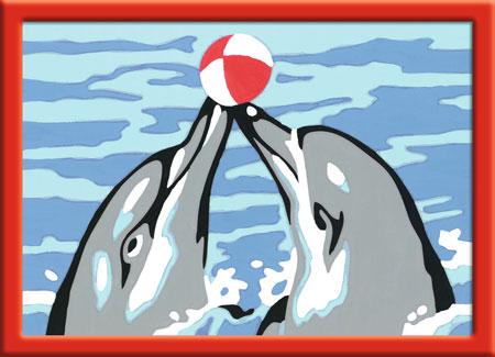 Malen nach Zahlen Bild Spielende Delfine - 29688 von Ravensburger
