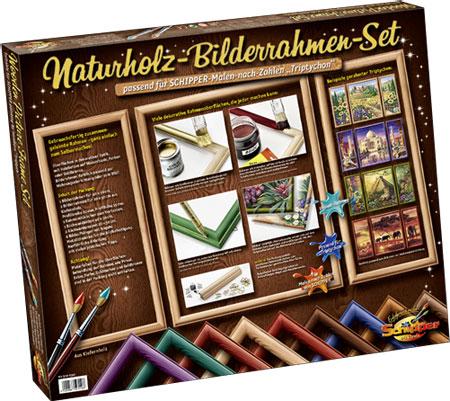 Naturholz-Bilderrahmen-Set
