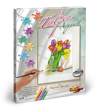 Malen nach Zahlen Bild Aquarell - Tulpen - 602120691 von Schipper