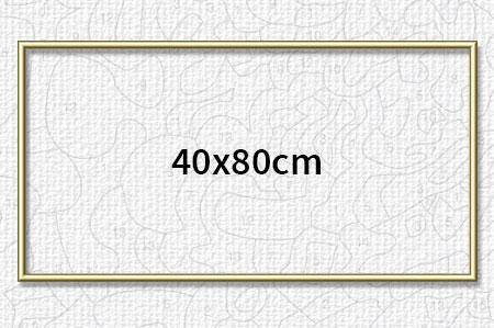 Malen-nach-Zahlen-Zubehör Goldfarbener Aluminium Bilderrahmen 40 x 80 cm