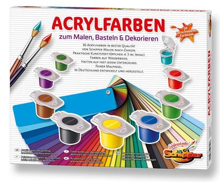 Malen-nach-Zahlen-Zubehör Schipper Acrylfarben zum Malen, Basteln und Dekorieren