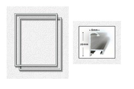 Malen-nach-Zahlen-Zubehör Zwei silberfarbene Aluminium Bilderrahmen 24 x 30 cm