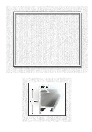 Malen-nach-Zahlen-Zubehör Silberfarbener Aluminium Bilderrahmen 40 x 50 cm