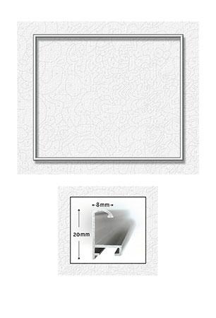 Silberfarbener Aluminium Bilderrahmen 50 x 60 cm