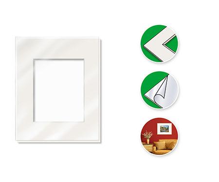 Malen-nach-Zahlen-Zubehör Passepartout für Bildformat 24 x 30 cm (mit Kunststoff-Glasscheibe)